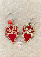 Heart Design Snaptab and Eyelet
