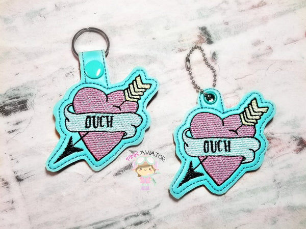 Heart Ouch Snaptab and Eyelet