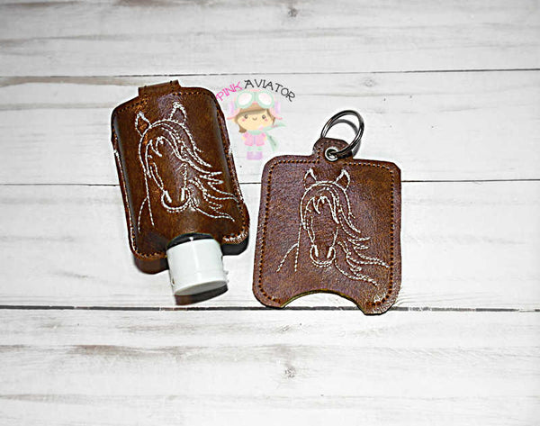 Horse Hand Sanitizer Small Snap and Eyelet