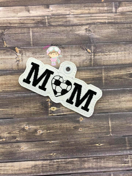 Mom Loves Soccer Snaptab and Eyelet