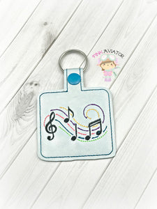 Music Notes Snaptab and Eyelet