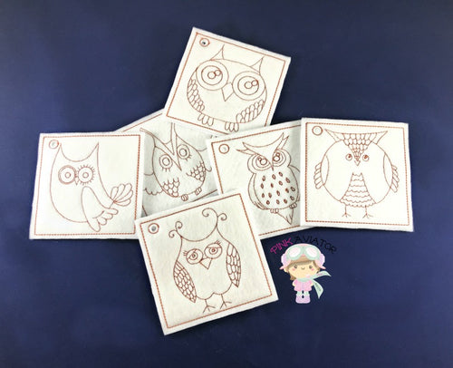 Owl Color Pages 2 SIZES!