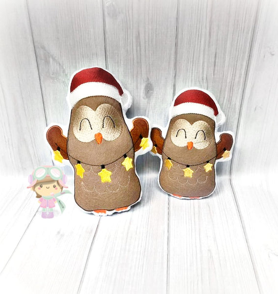 Christmas Light Owl Stuffie 2 Sizes