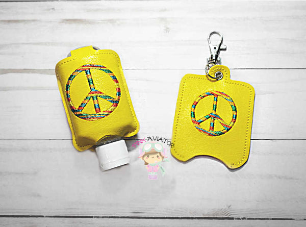 Peace Small Hand Sanitizer Eyelet and Snap