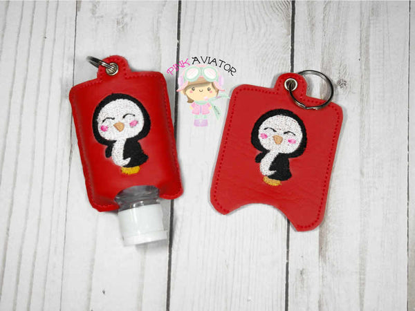 Penguin Hand Sanitizer Snap and Eyelet