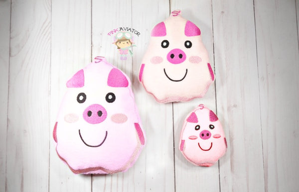 Cute Pig Stuffie-3 SIZES!!!