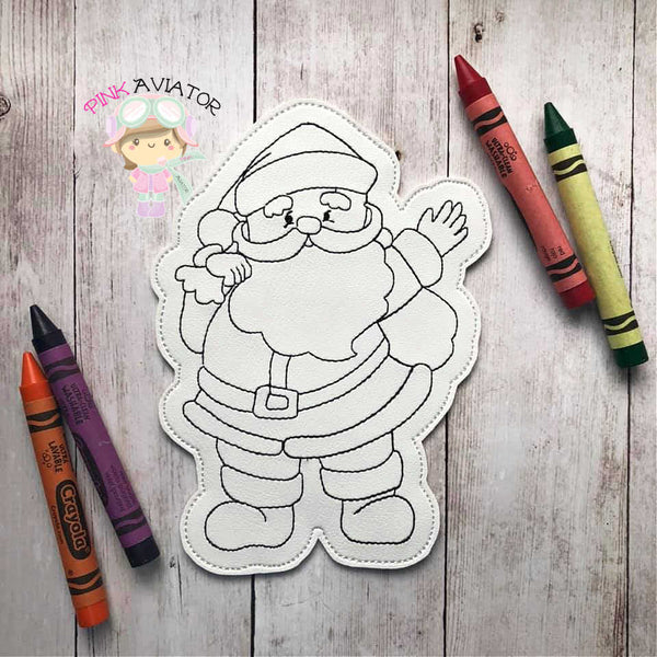 Santa Claus Color Sheet 2 SIZES!!!!