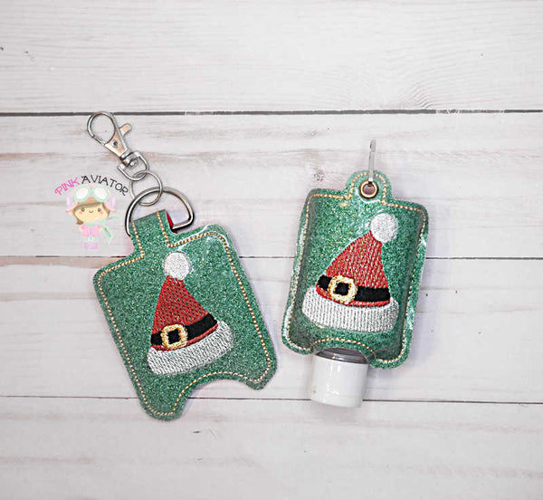 Santa Hat Hand Sanitizer-Small Snap and Eyelet