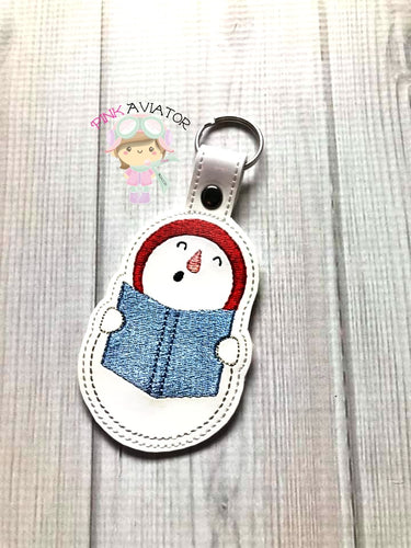 Singing Snowman Snaptab and Eyelet