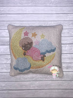 Sleeping baby On Moon Cross Stitch Design