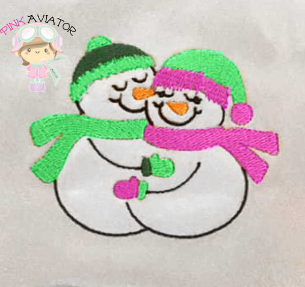 Snowman Couple Design 2 Sizes