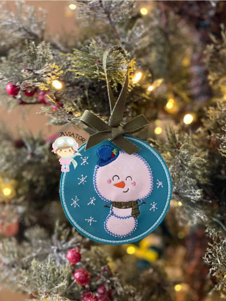 Snowman Applique Ornament