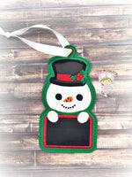 Snowman Name Ornament
