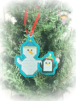 Snowman and Friend Ornament