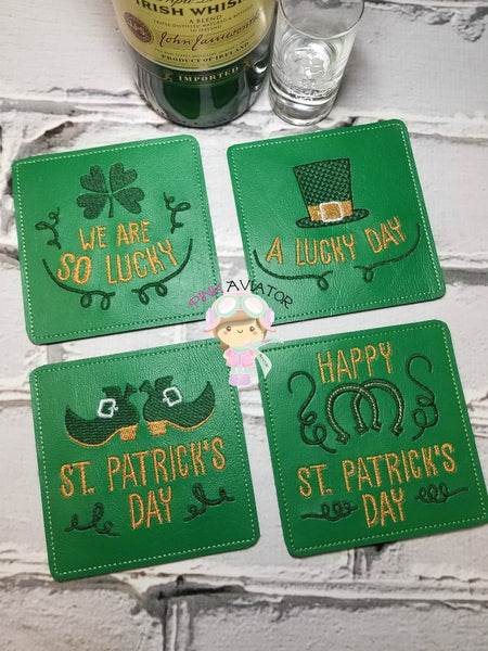 St. Patricks Day Coaster set