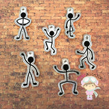 Stickman Gestures Snaptabs and Eyelets 1-6