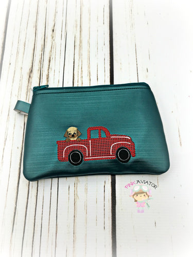 Top Zipper Red Truck with Doggie