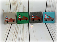 Truck Singing Snowman Coasters