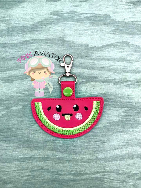 Watermelon Face Snaptab and Eyelet