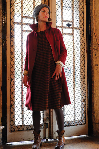 Maceo Coat Red