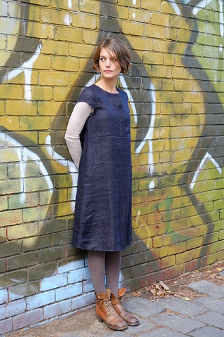 Elias Dress Navy