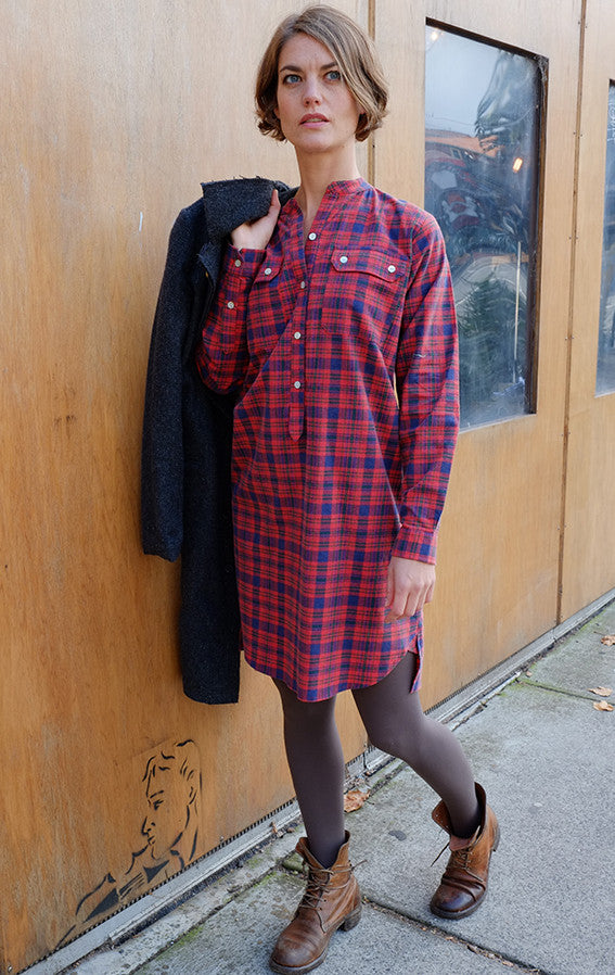 Iggey Shirt Dress Red Check