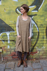 Leicen Dress Olive Check