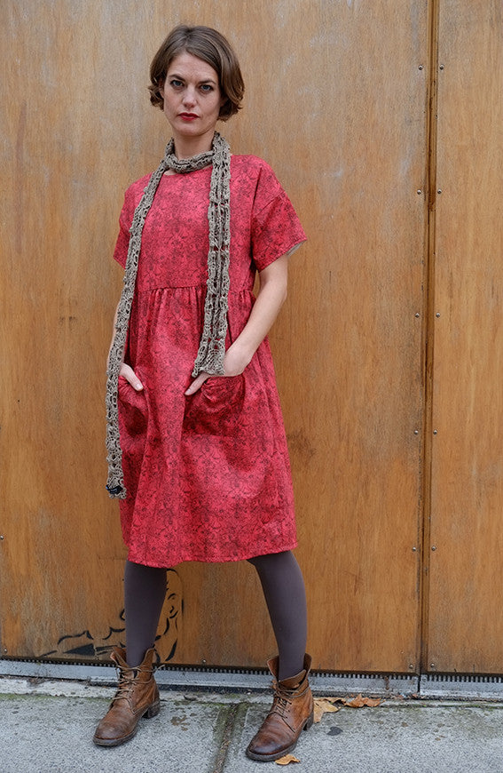 Franque Dress Liberty Print Red Floral