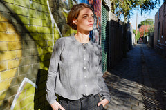 Bay Blouse Charcoal