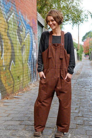 Guide Overalls Burnt Orange Check