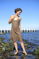 Freya Shift Dress - Coffee