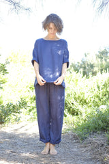 Sebastian Drawstring Pants - Navy