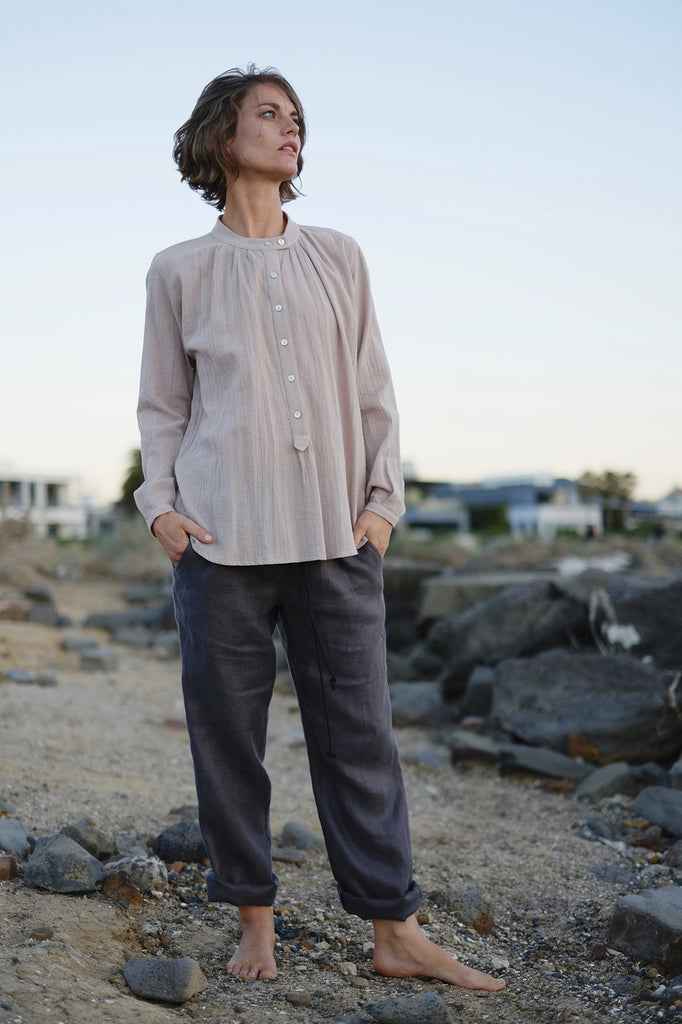 Bay Blouse - Dusty Pink