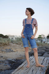 Denim Shorts-Overalls
