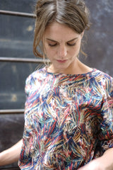 Rouge Top Liberty Print Limited Edition Red Blue