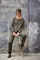 Glia Jumper Japanese Wool Green Spec