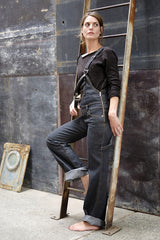 Denim Overalls Italian Stretch Denim