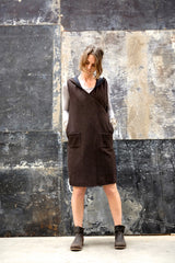 Eski Dress Choc Japanese Wool Cashmere