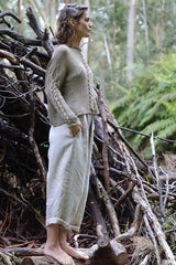 Helen hand knit cable jumper