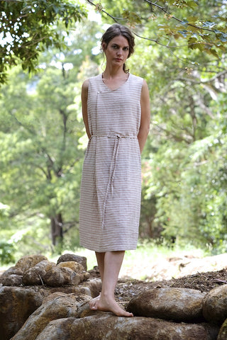 Dixon dress - apricot stripe