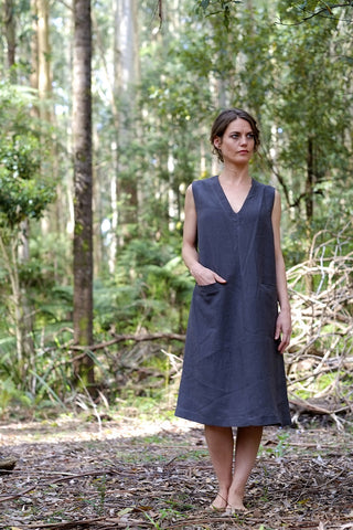 Bosky shift dress - charcoal