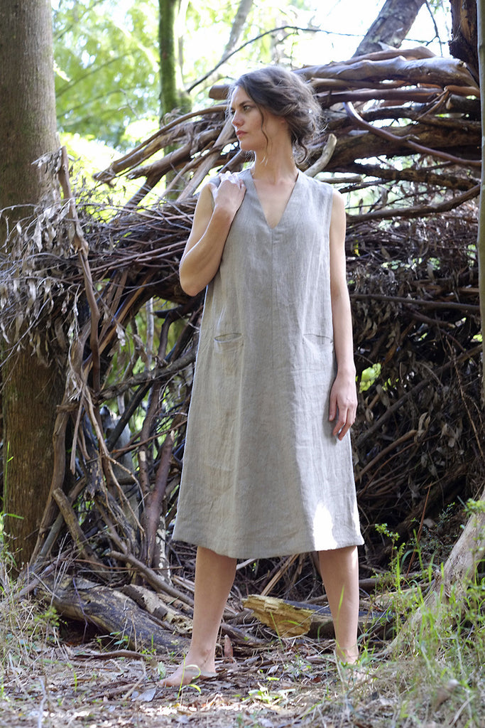 Bosky shift dress - natural
