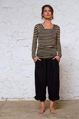 Magnus Pants Japanese Washer Linen Coal Black