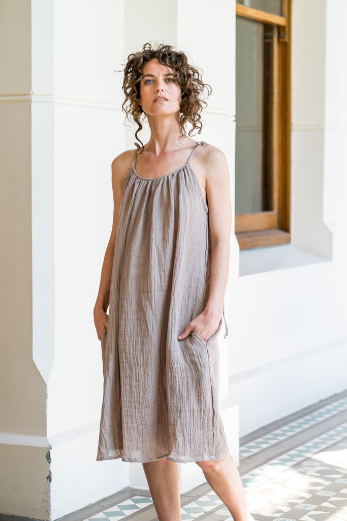 Nevi dress - natural twig