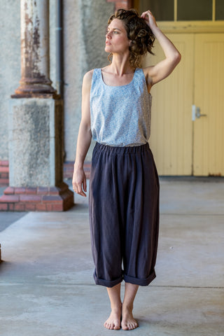 Magnus pants - Japanese washer linen navy