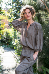 Marianne Blouse - Japanese cotton donkey brown
