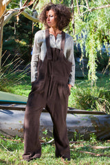 Guide Japanese Wool Overalls Chocolate