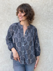 Marianne Blouse Charcoal