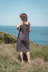 Syd shift dress / Charcoal