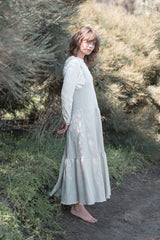 Leila tiered dress / Oat